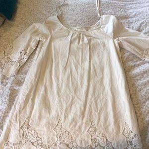 Blu Pepper White Country Chic Dress